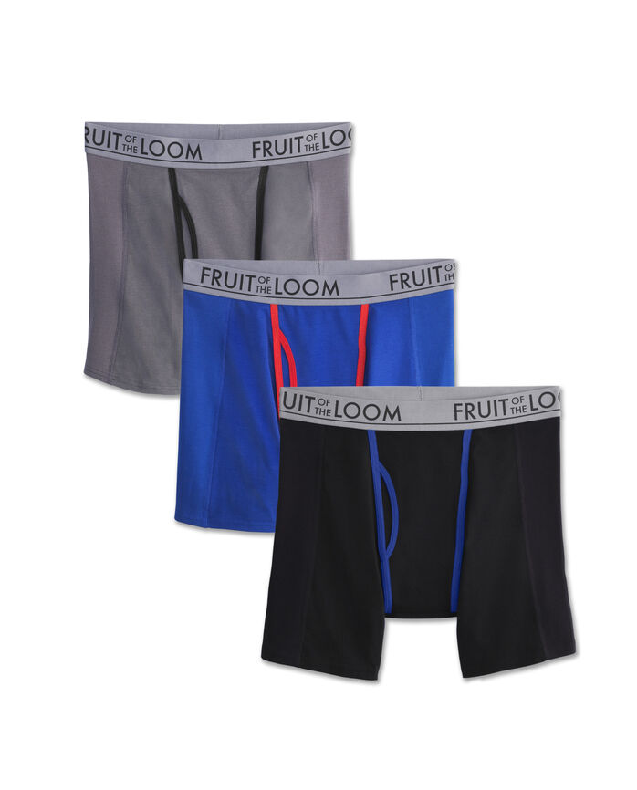 Fruit of the Loom Men's Ultra Flex Boxer Brief, 3-Pack