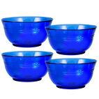Set of 4 Cobalt Glass Cereal Bowls