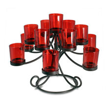 13 Lite Red Tealight Centerpiece