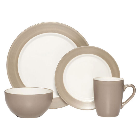 Pfaltzgraff Everyday Harmony Taupe 16 Piece Dinnerware Set