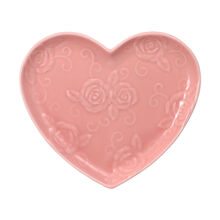 Pink Heart Shaped Plate