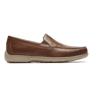 Total Motion Venetian Loafer Comfortable Men's Shoes in Brown
