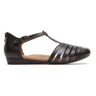 Cobb Hill Galway Strappy Toe Comfortable Women's Shoes in Black