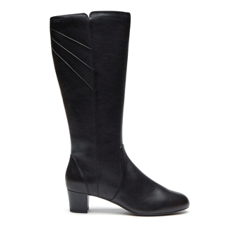 Total Motion Cresenthia Wide Calf Waterproof Boot in Black