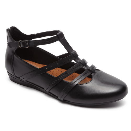 Gracie T Strap Cobb Hill By Rockport In Black
