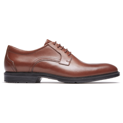 City Smart Plain Toe Men's Oxfords in Brown