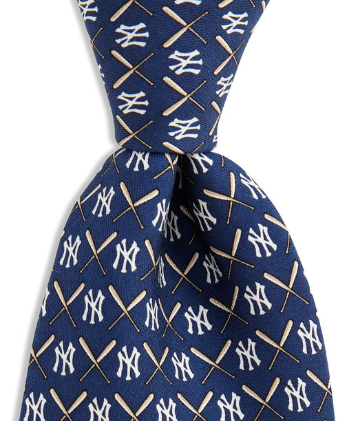 Shop New York Yankees Logo Amp Bat Tie At Vineyard Vines