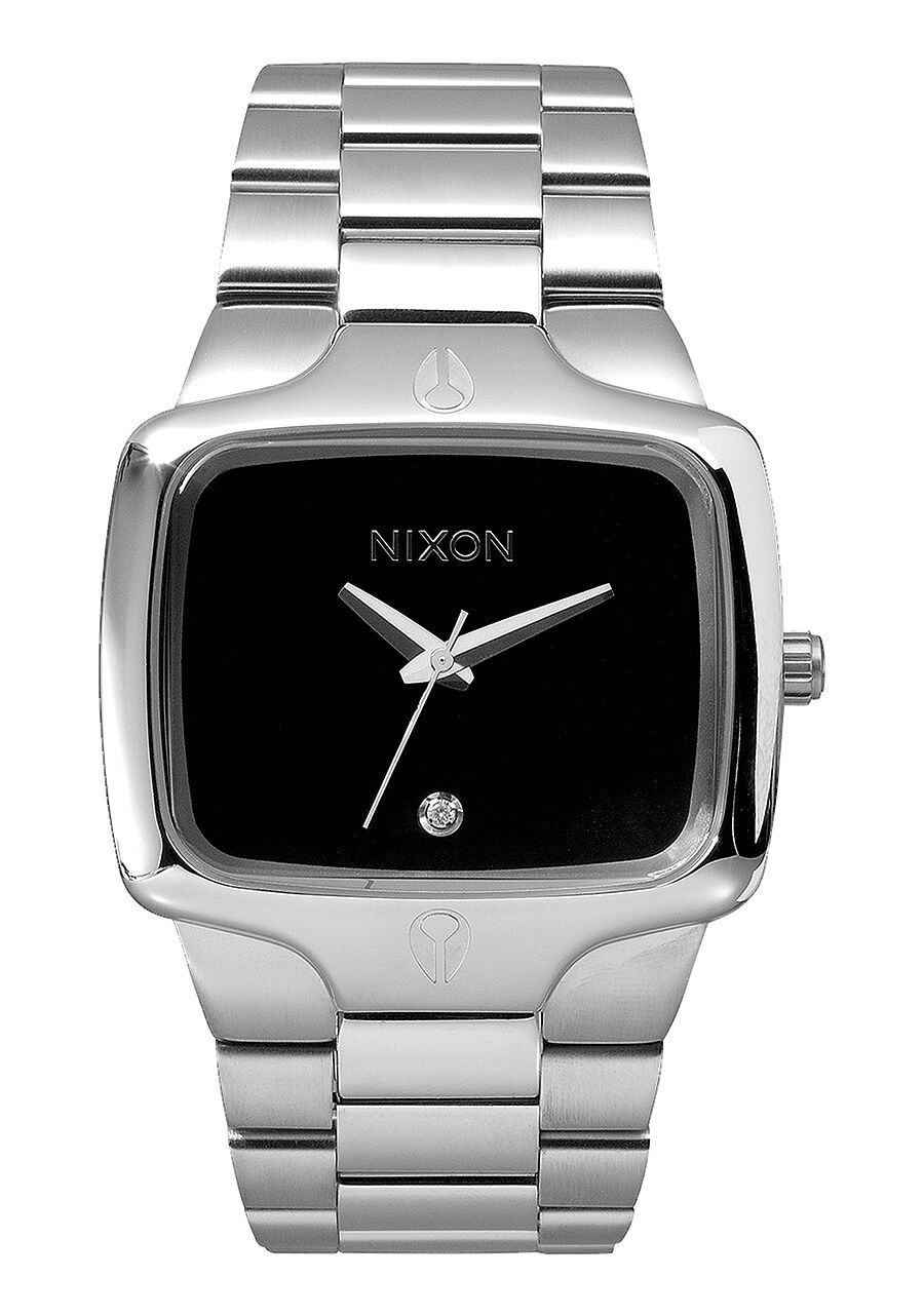 Black Nixon Watch With Diamond