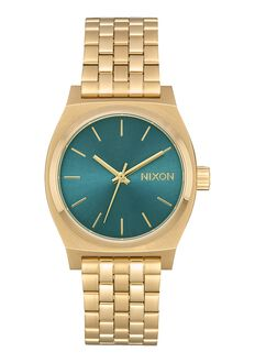 Medium Time Teller, Light Gold / Turquoise
