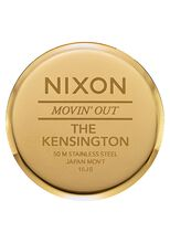 Kensington Leather, Gold / Black Gator