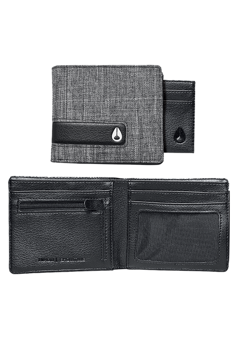 Showtime Bi-Fold ID Zip Wallet, Black Wash