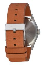 Sentry Leather, Silver / Tan