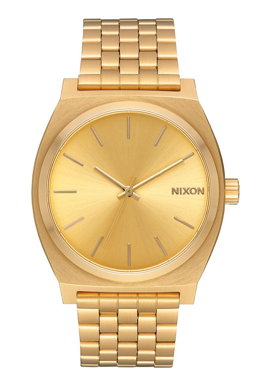 casuals teller all black time remix img nixon product sunray gold watch watches
