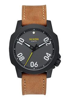 Ranger 40 Leather, Black / Gunmetal / Natural