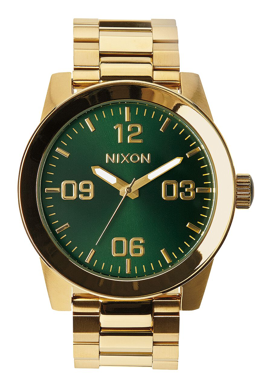 nixon green mens cannon face for men watch gold watches sunray