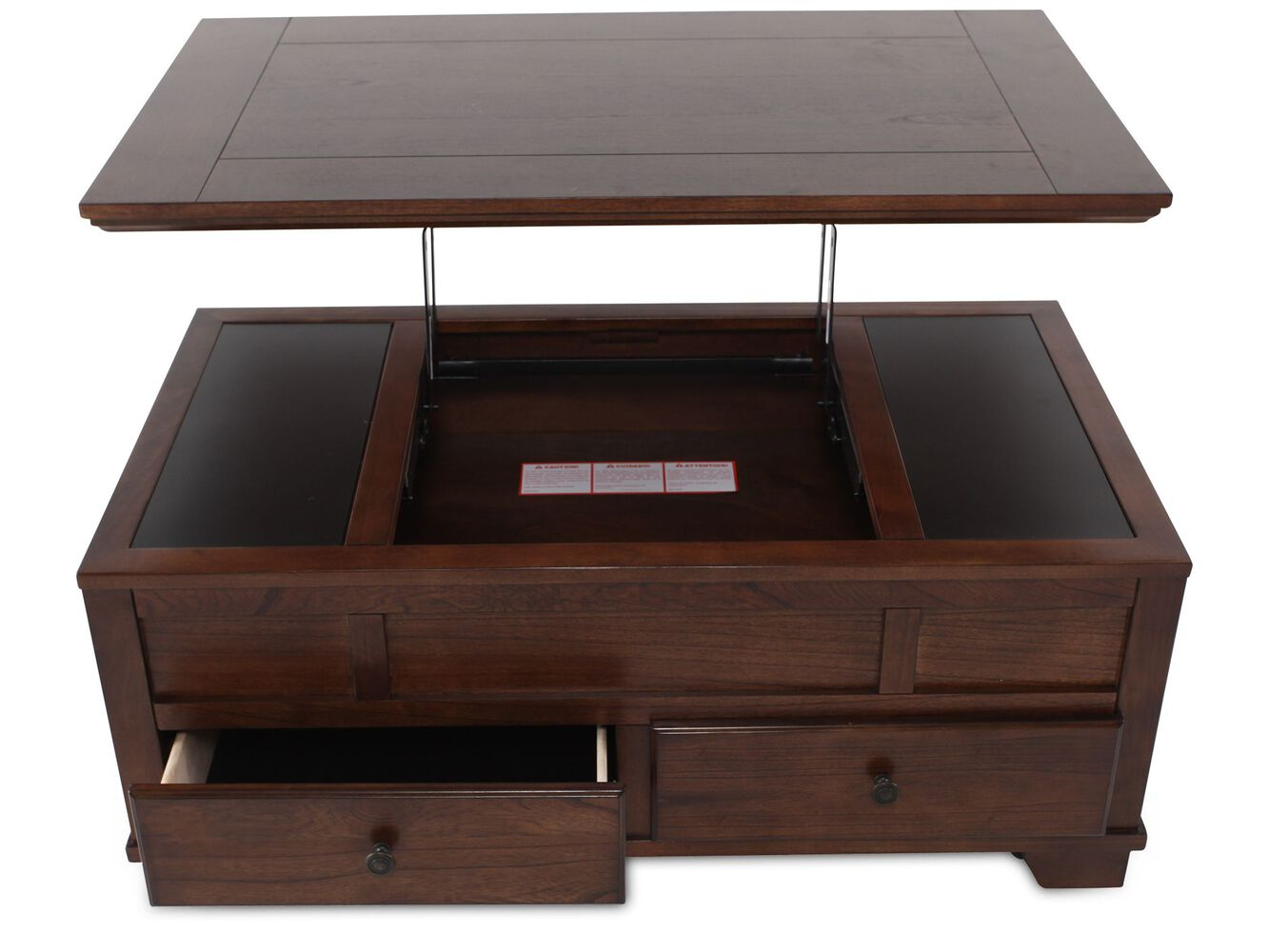 ashley lift top cocktail table | mathis brothers furniture