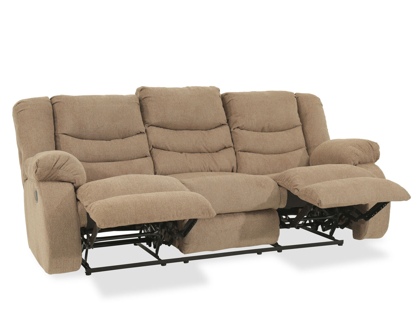ashley tulen mocha reclining sofa mathis brothers furniture. Black Bedroom Furniture Sets. Home Design Ideas