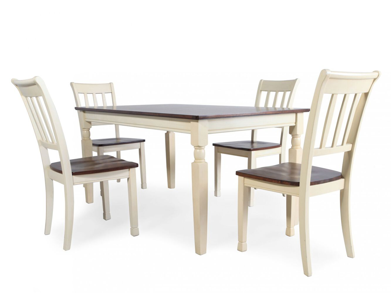 ashley whiteburg five piece dining set mathis brothers furniture