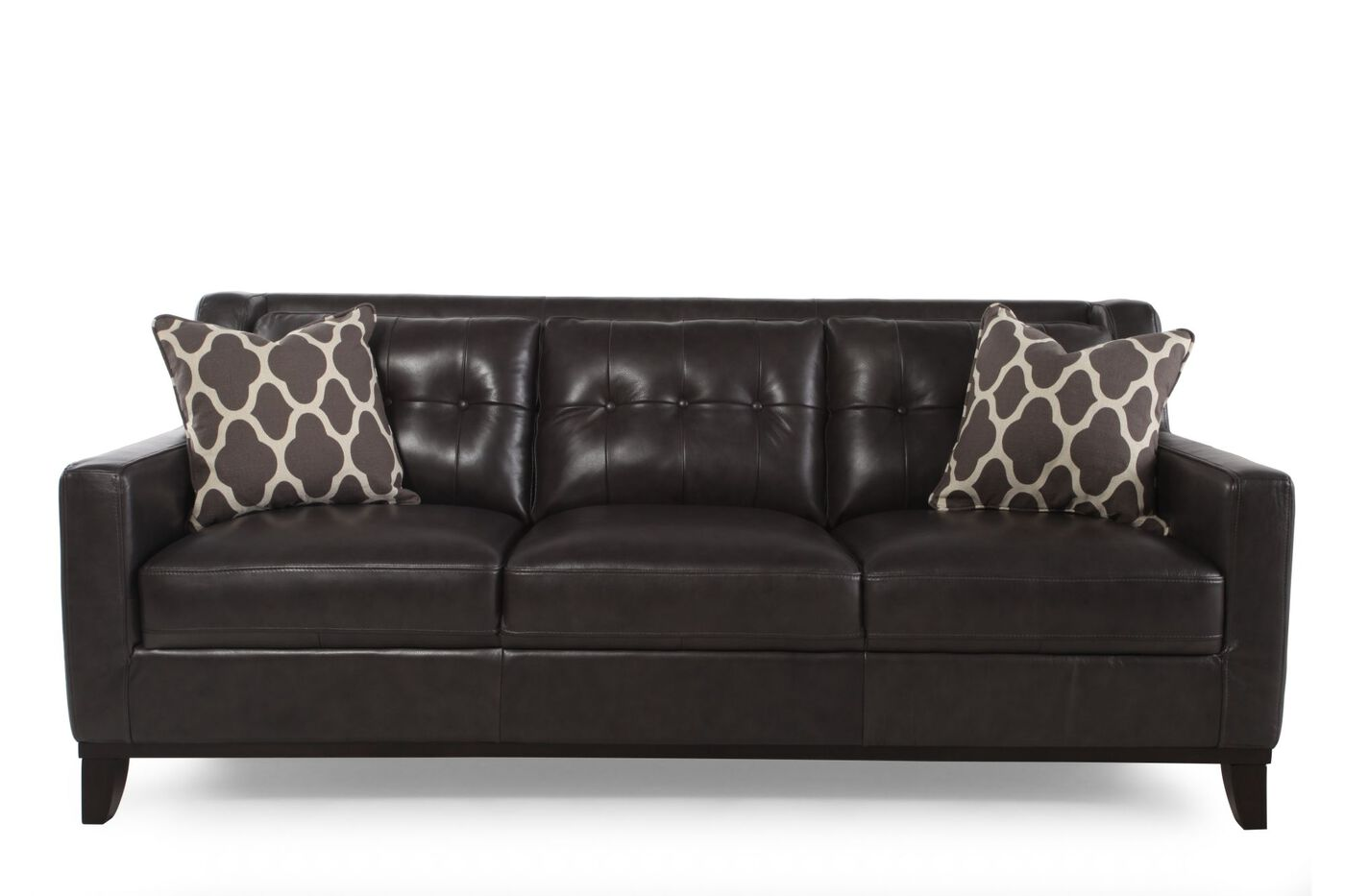 Boulevard Grey Leather Sofa. Boulevard Grey Leather Sofa   Mathis Brothers Furniture