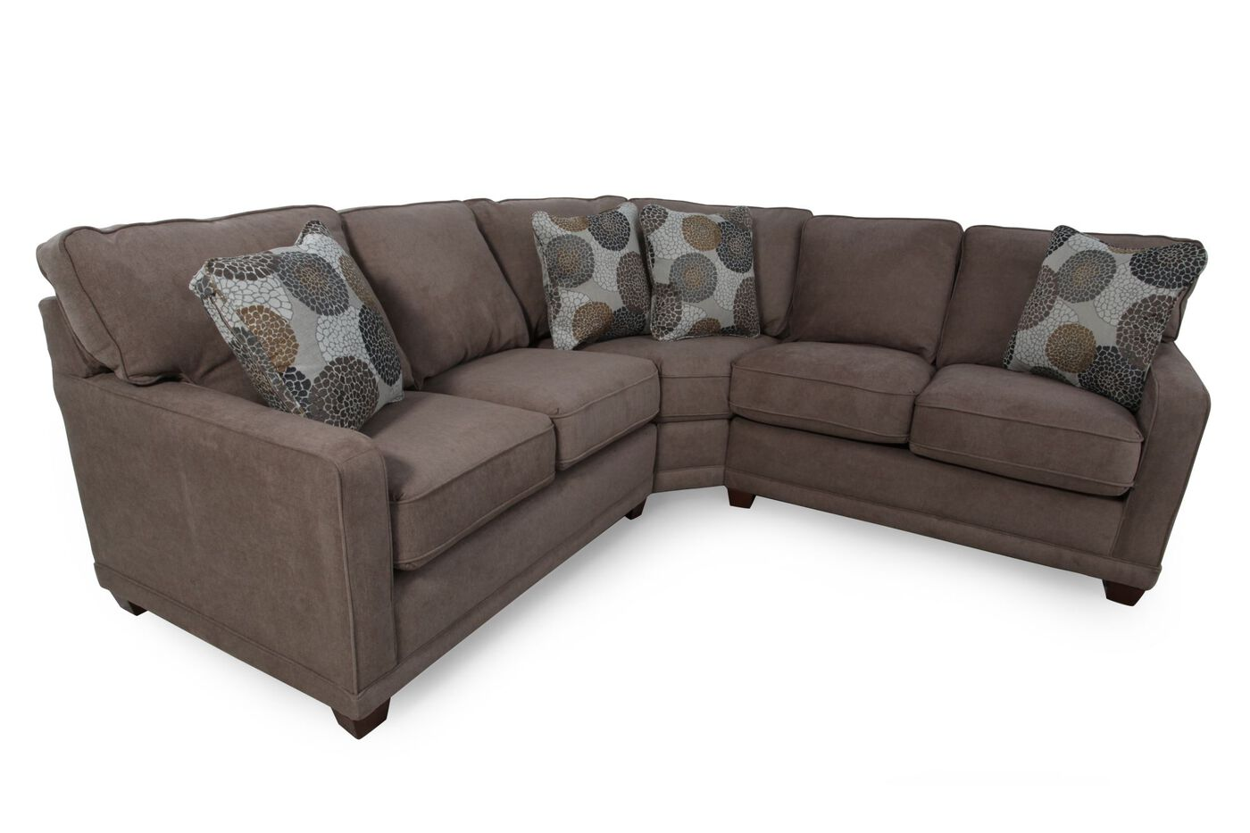 Lazy Boy Sectionals >> La-Z-Boy Kennedy Cashmere Sectional | Mathis Brothers ...