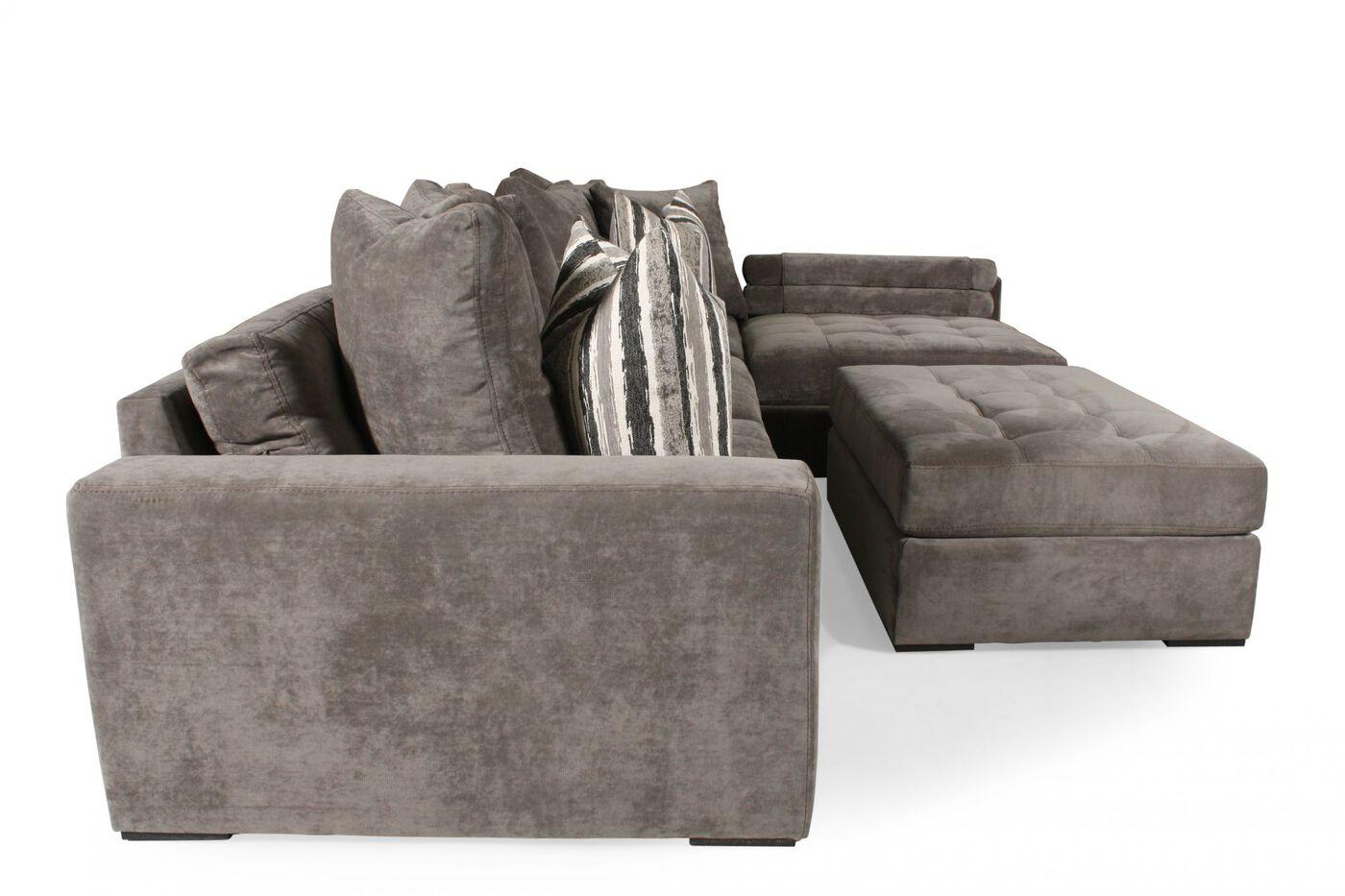 Jonathan Louis Noah Gray Sectional : Mathis Brothers Furniture