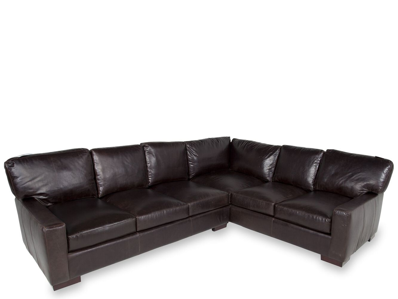 Two Piece Living Room Set Usa Leather Tobacco Two Piece Sectional Mathis Brothers Furniture