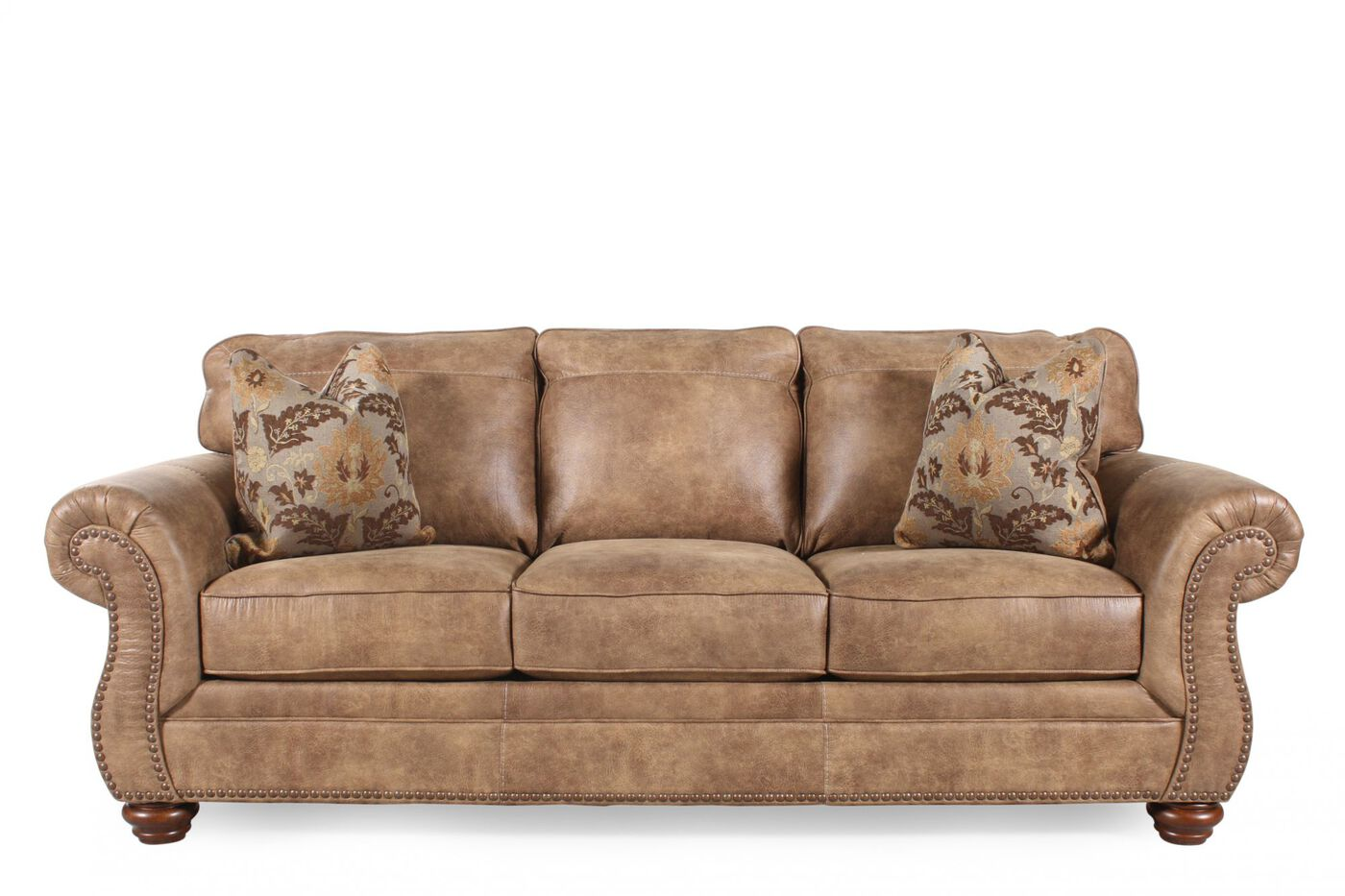 Ashley larkinhurst earth sofa mathis brothers furniture Ashley couch and loveseat