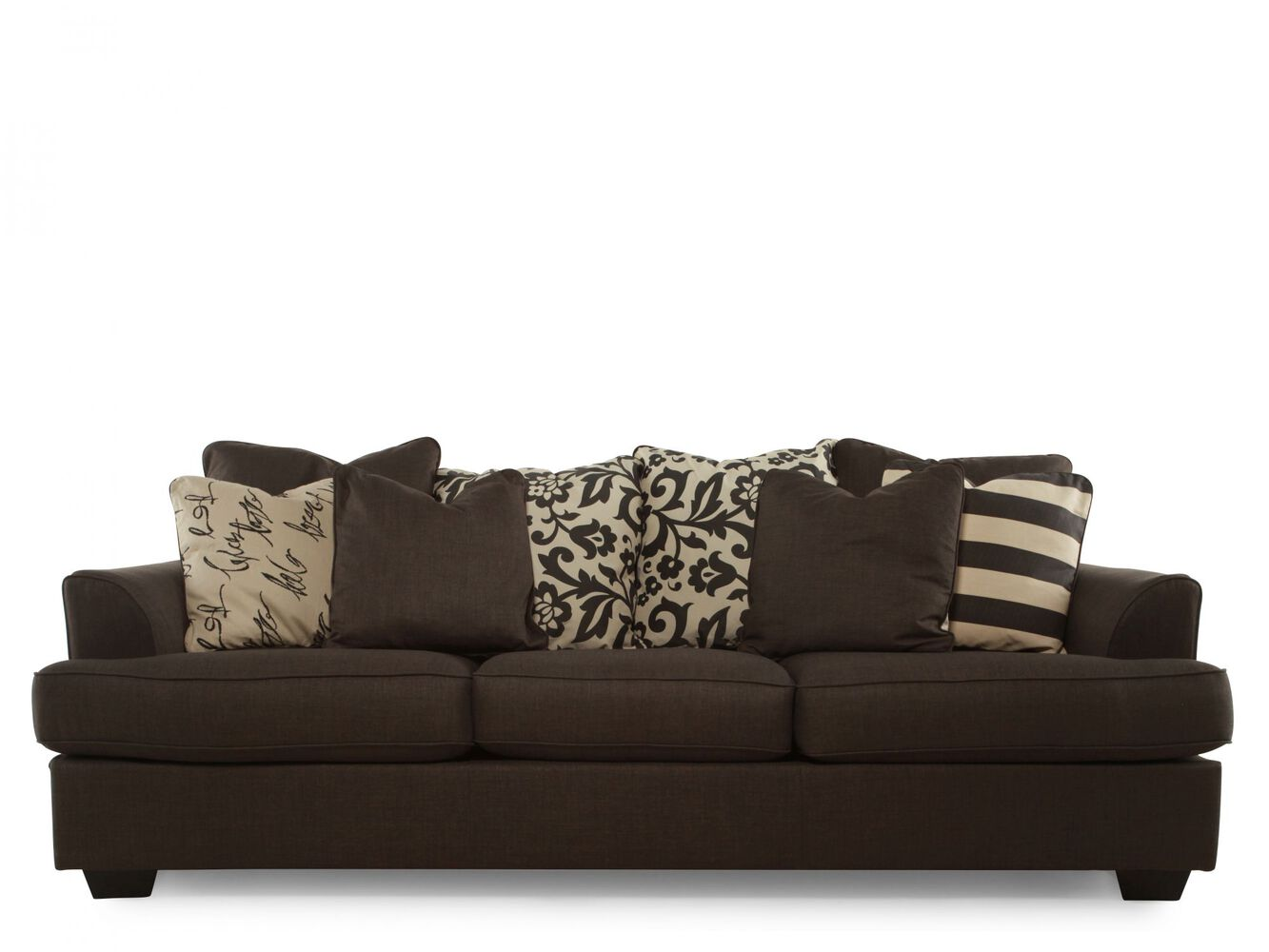 Levon charcoal sofa mathis brothers for Charcoal sofa living room