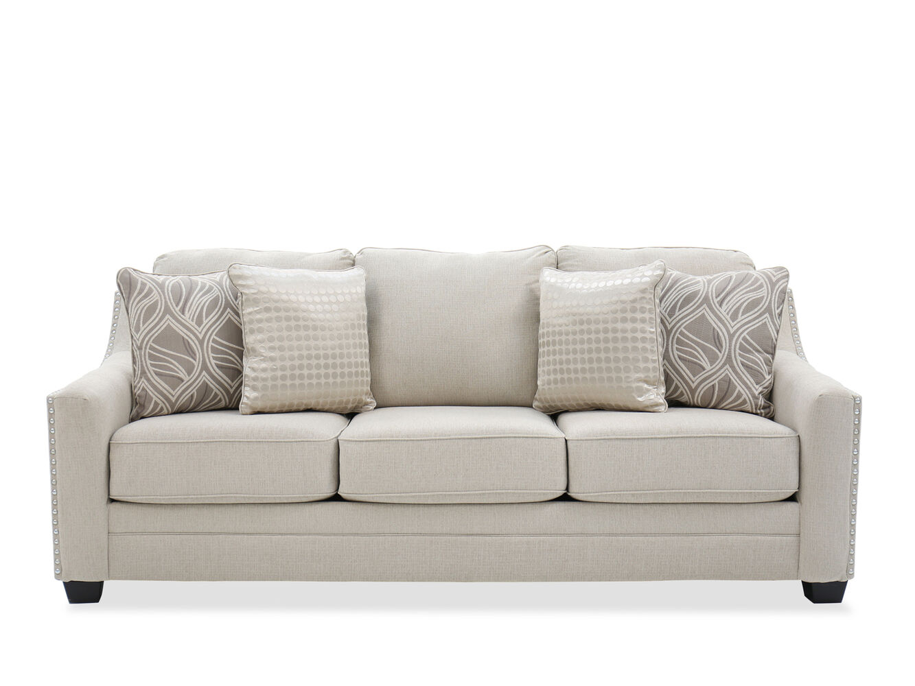 Ashley Mauricio Linen Sofa Mathis Brothers Furniture