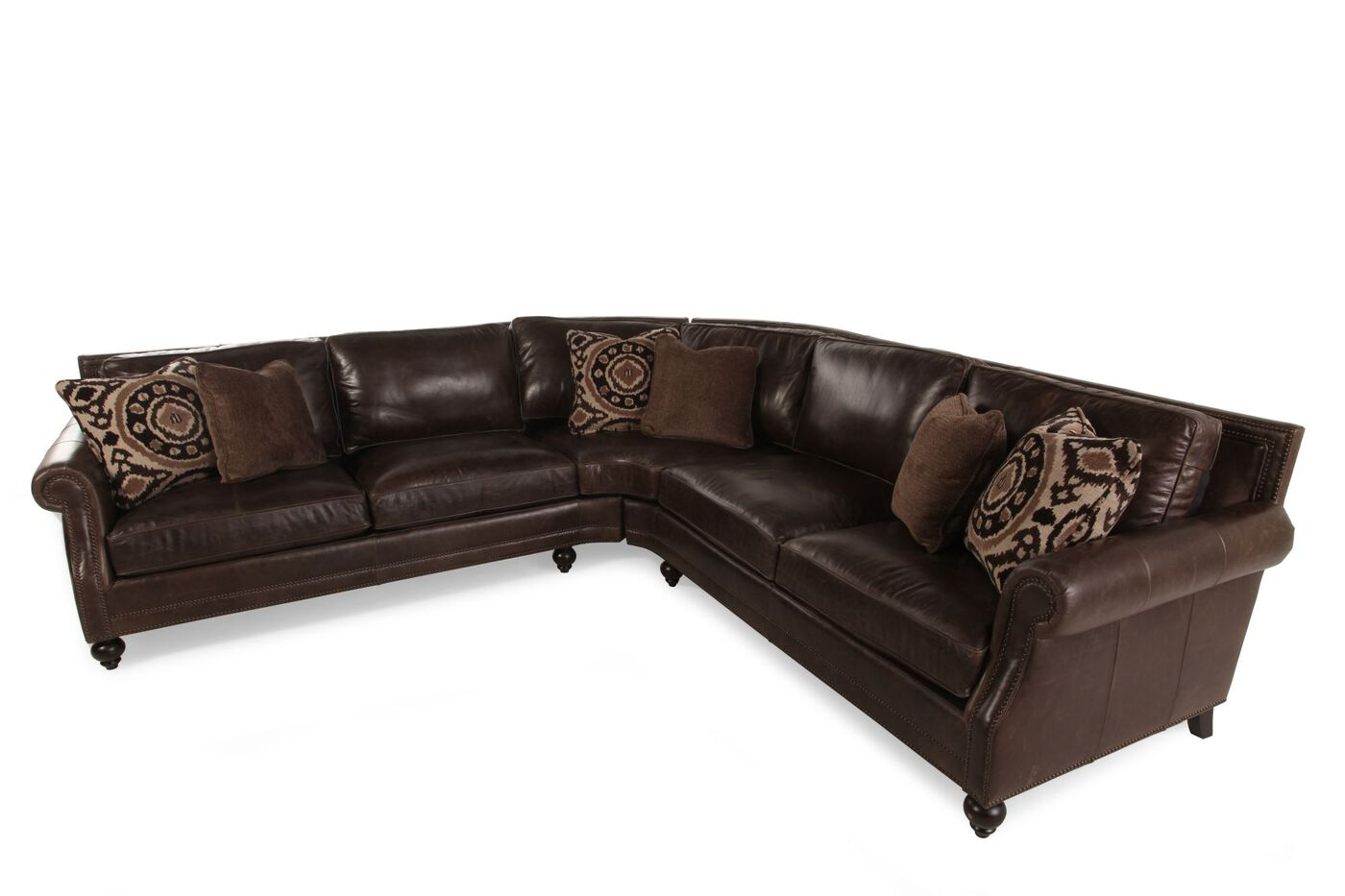 Bernhardt sectional mathis brothers for Mathis brothers living room furniture sectional sofas