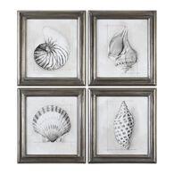 Uttermost Shell Schematic Aquatic Prints S/4