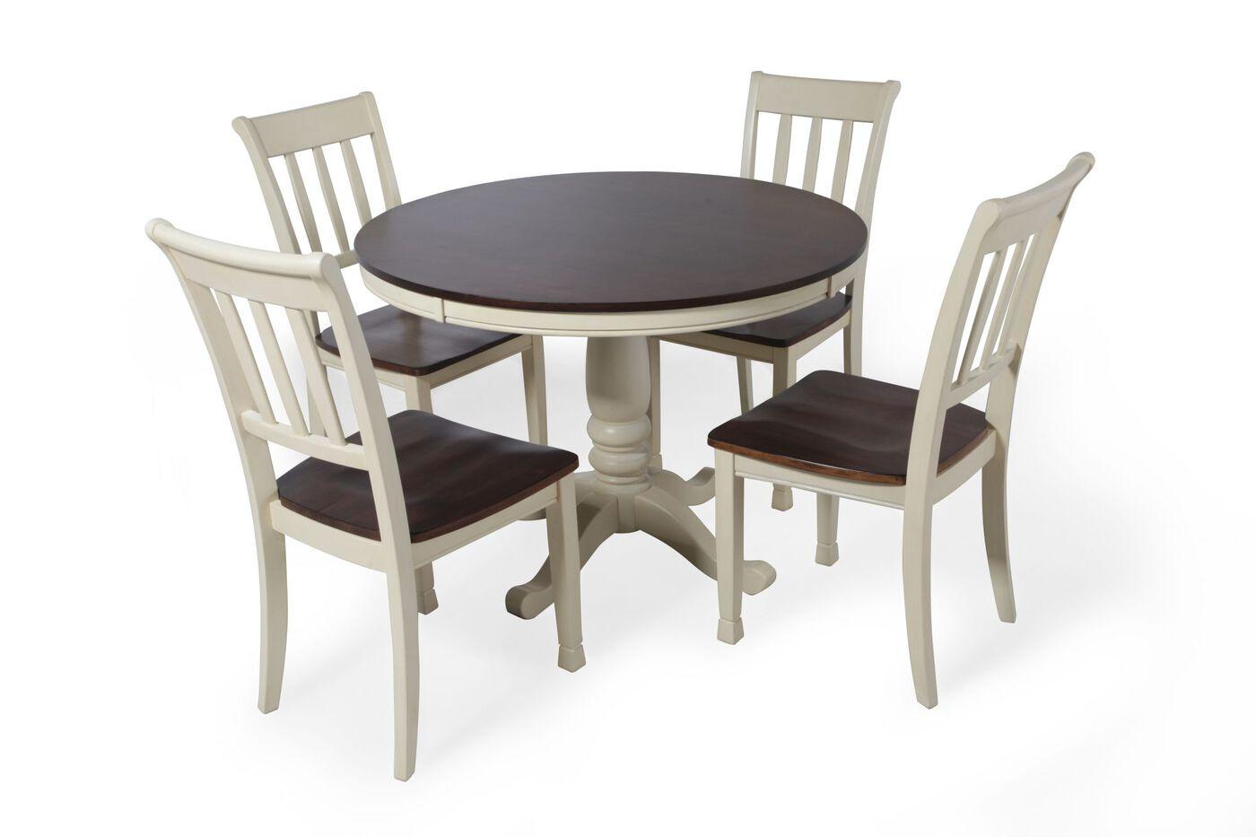 Ashley whitesburg cottage five piece dining set mathis for Olympic furniture kitchen set