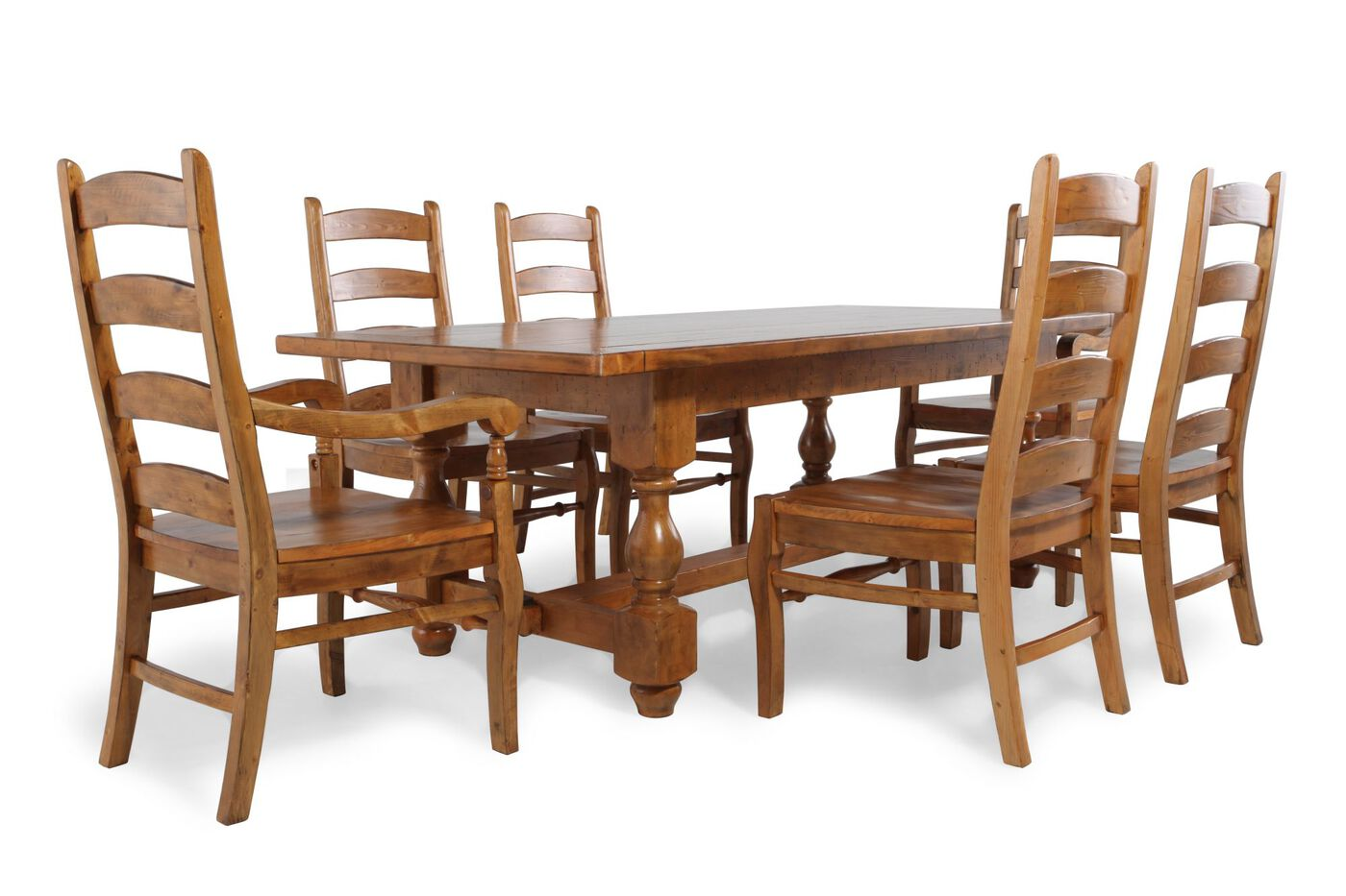 mb home switzer trestle seven piece dining set: seven piece dining set