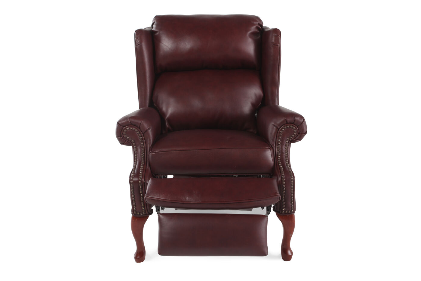 Lane savannah leather recliner mathis brothers furniture for Chair recliner
