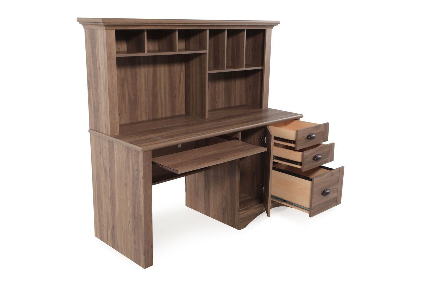 Sauder Harbor View Computer Desk With Hutch Mathis