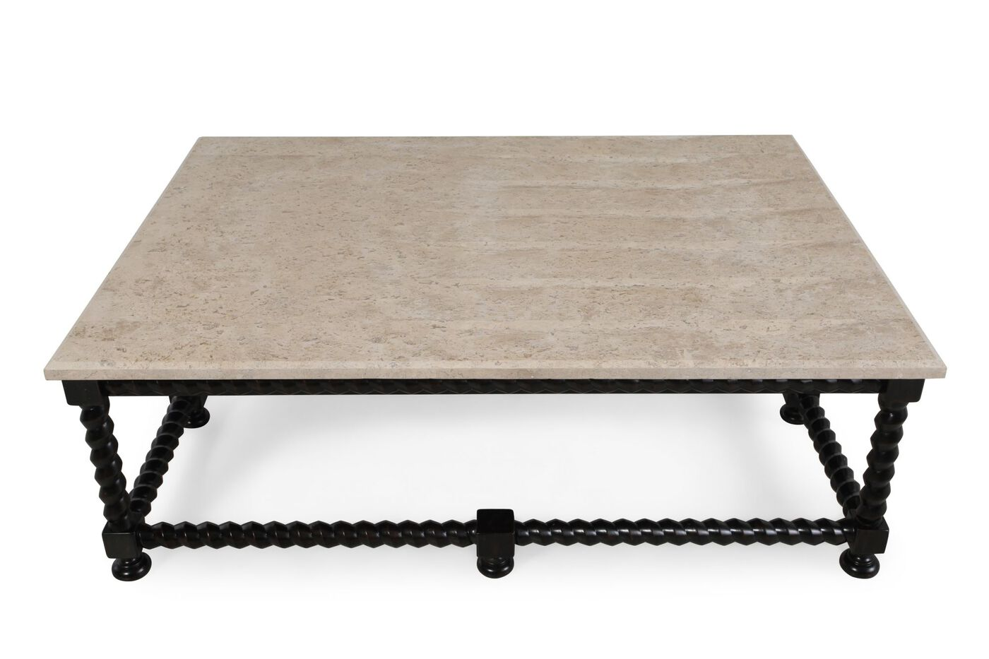bernhardt cordova stone top cocktail table | mathis brothers furniture