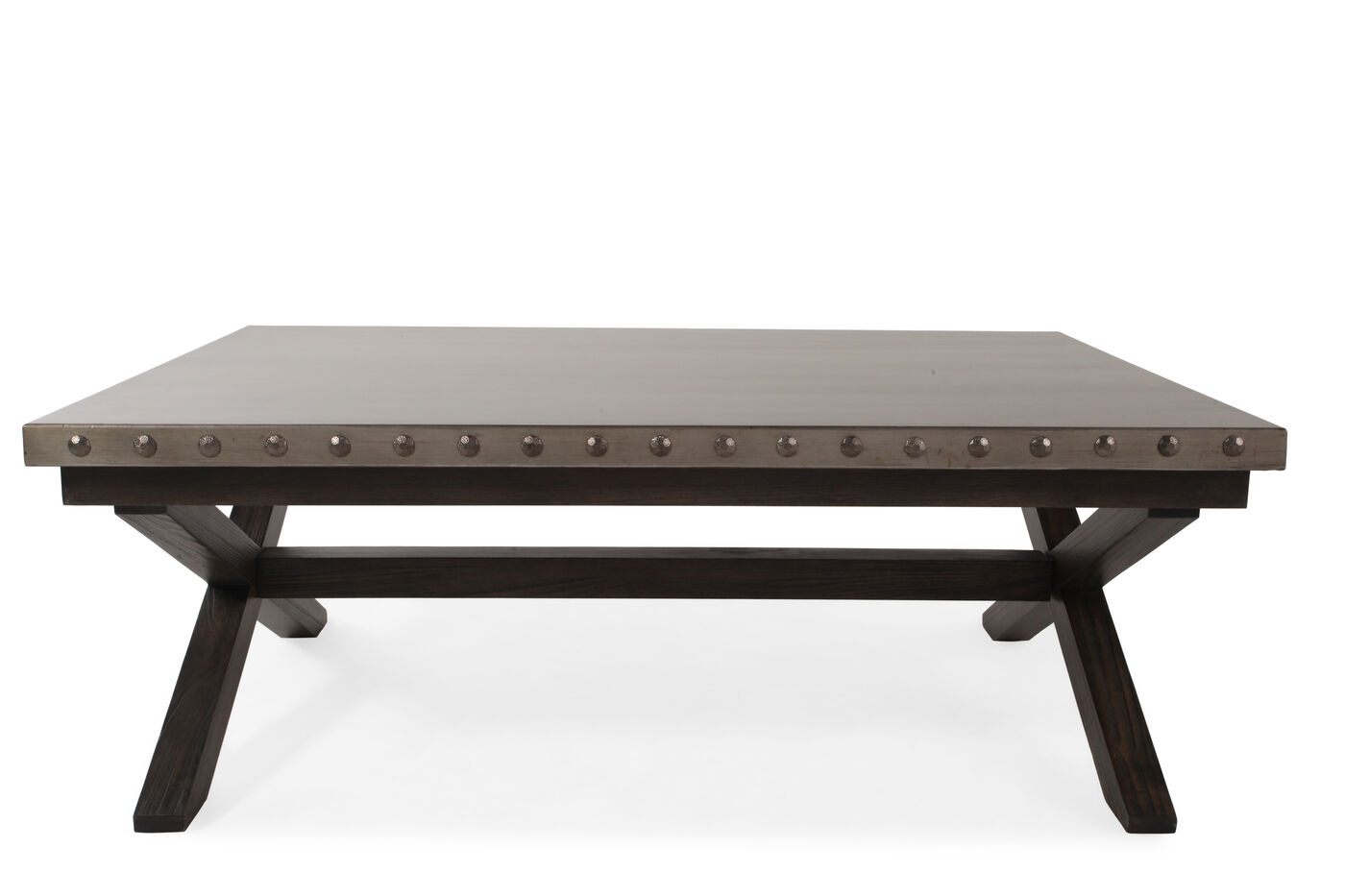 hooker vintage west x base cocktail table mathis brothers furniture. Black Bedroom Furniture Sets. Home Design Ideas