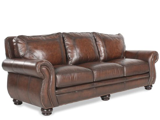 Bernhardt leather sofa mathis brothers for Bernhardt furniture sectional sofa