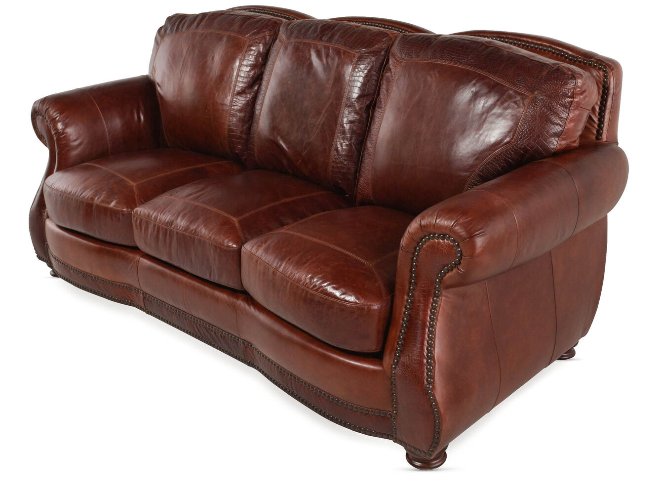 Usa leather brandy sofa mathis brothers furniture for Divan furniture usa