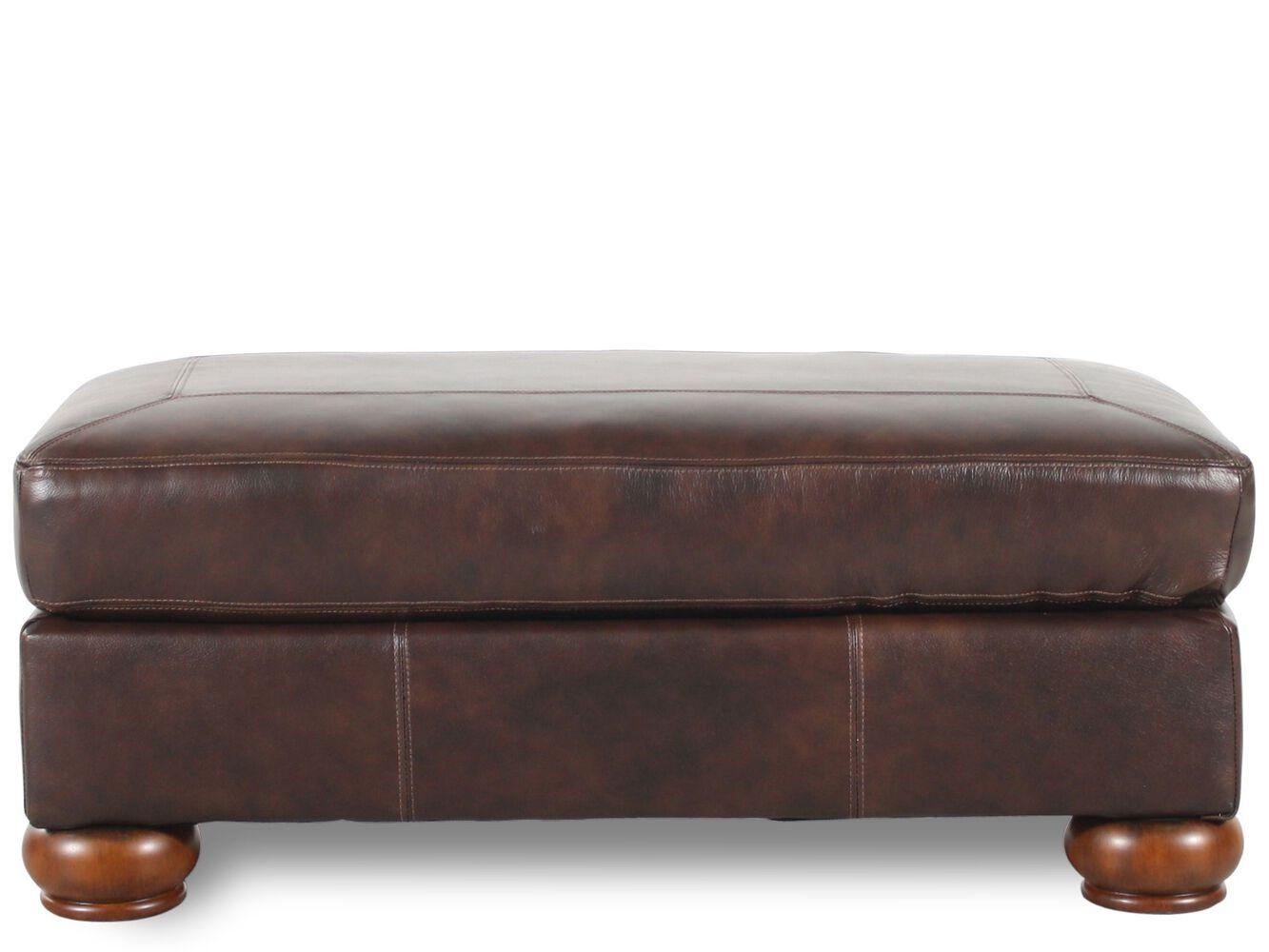 Ashley Millennium Axiom Walnut Ottoman Mathis Brothers Furniture