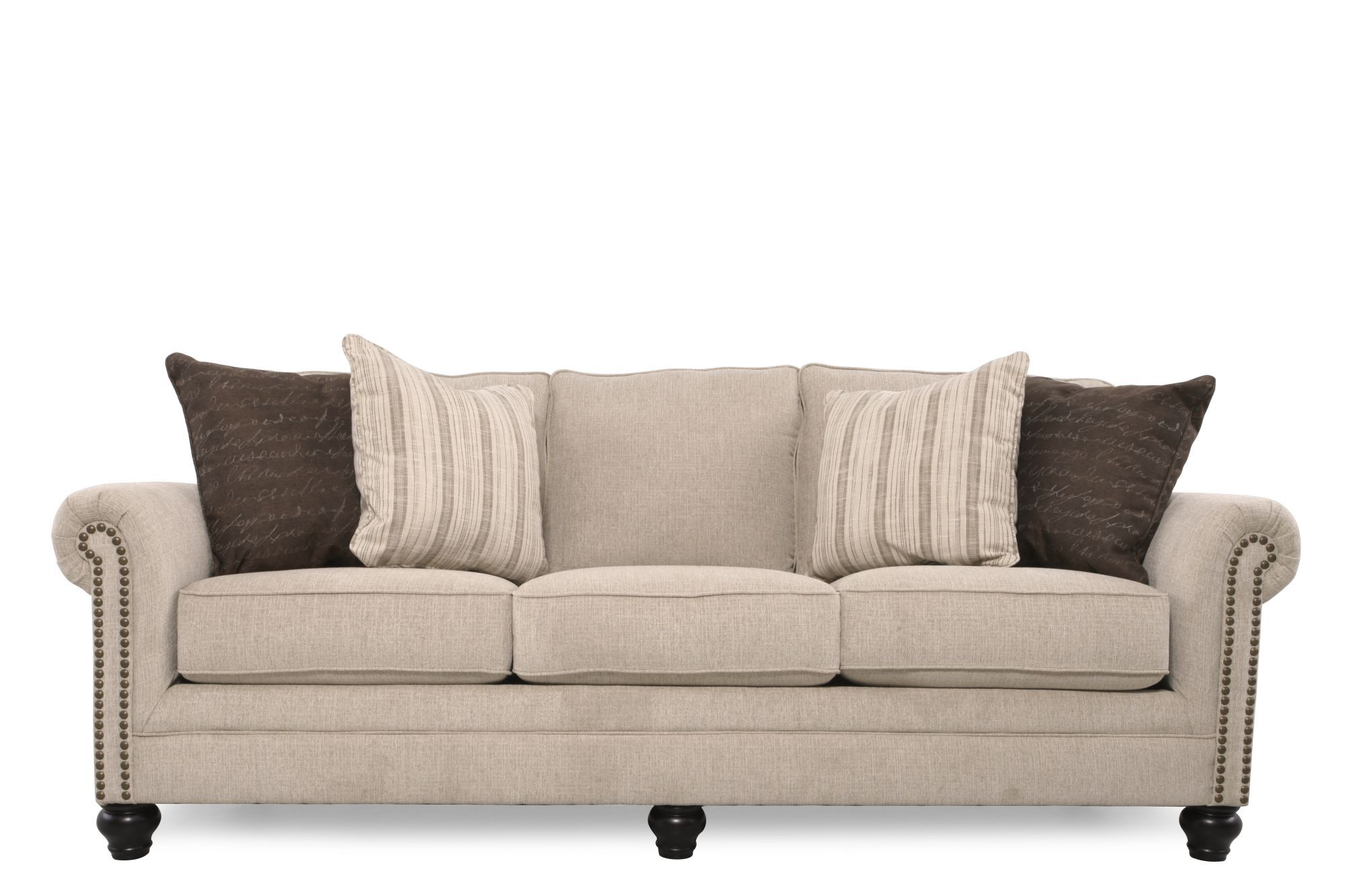 Ashley 90 Casual Sofa in Linen Mathis Brothers Furniture