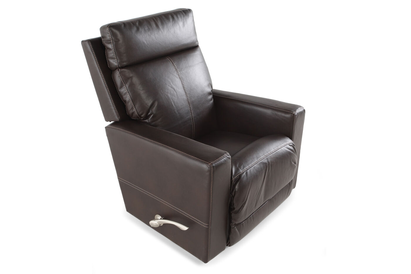 La Z Boy Jax Sable Leather Recliner Mathis Brothers