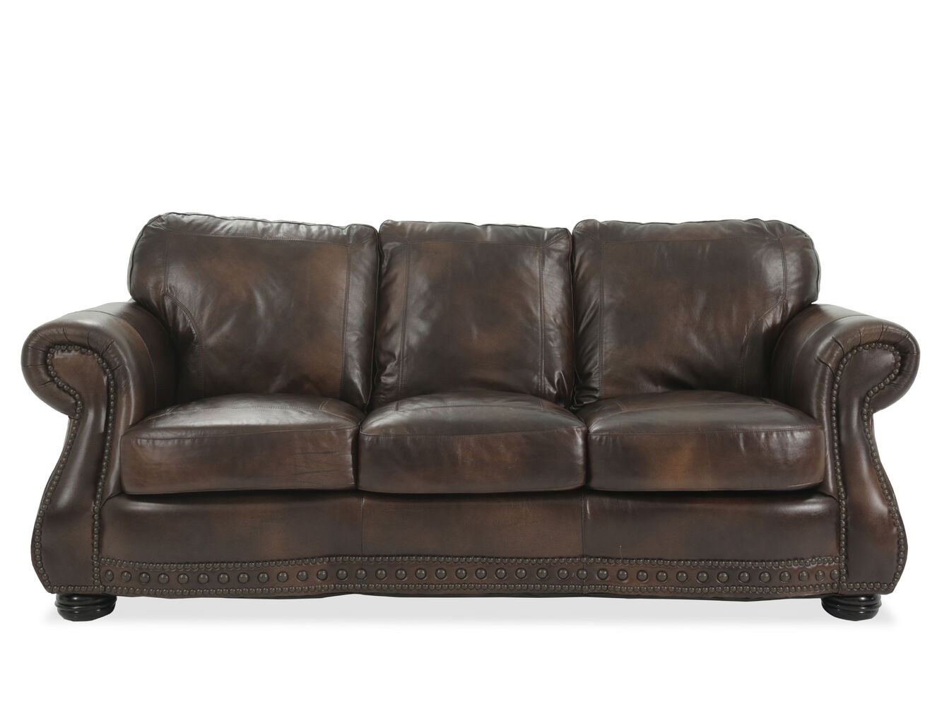 Usa leather cowboy sofa mathis brothers furniture for Divan furniture usa