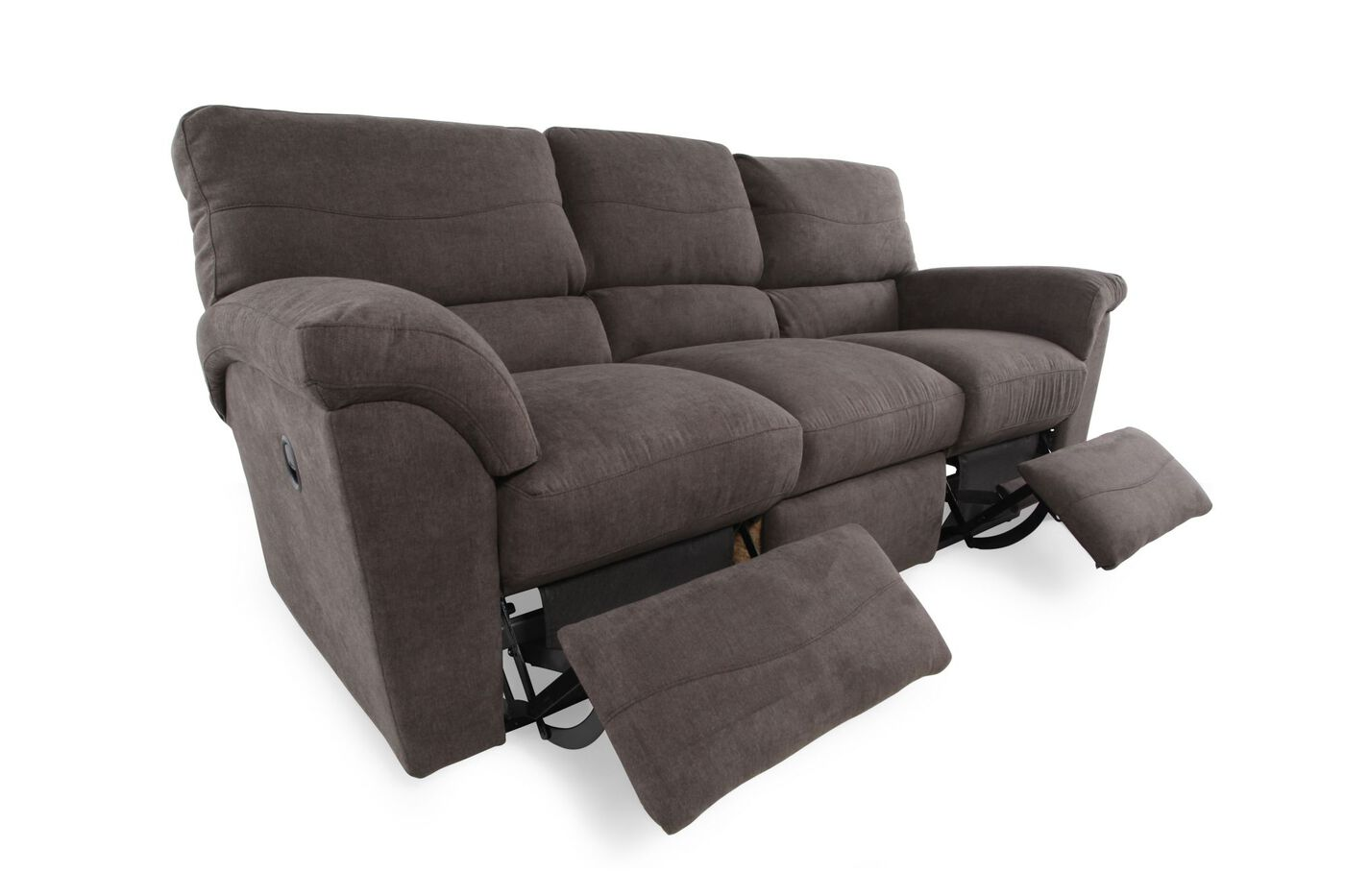 la z boy reese granite reclining sofa mathis brothers furniture. Black Bedroom Furniture Sets. Home Design Ideas