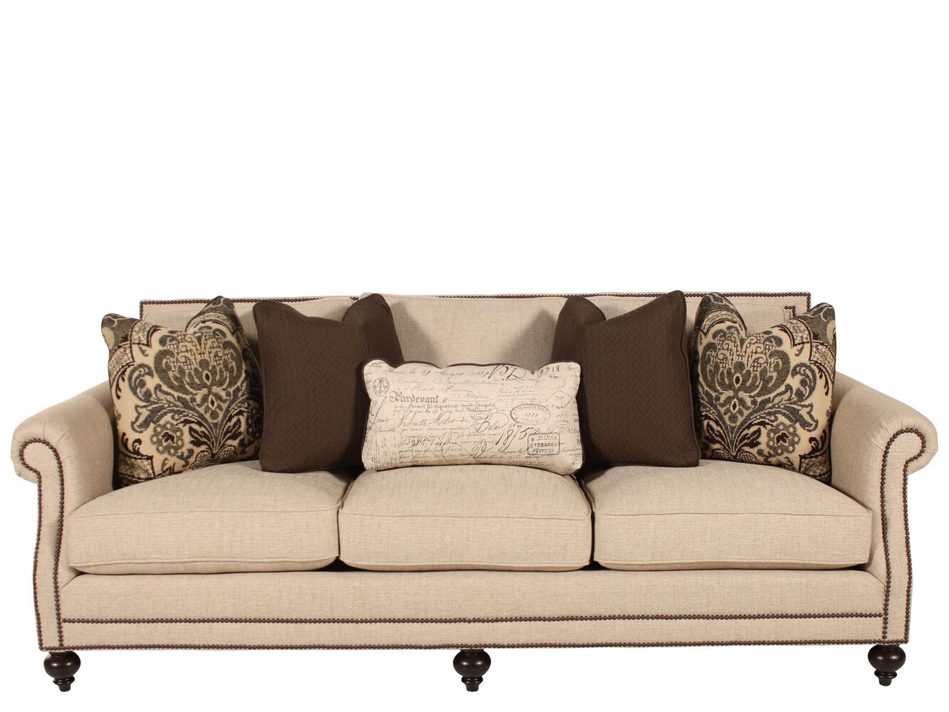 Bernhardt brae sofa mathis brothers furniture Bernhardt living room furniture
