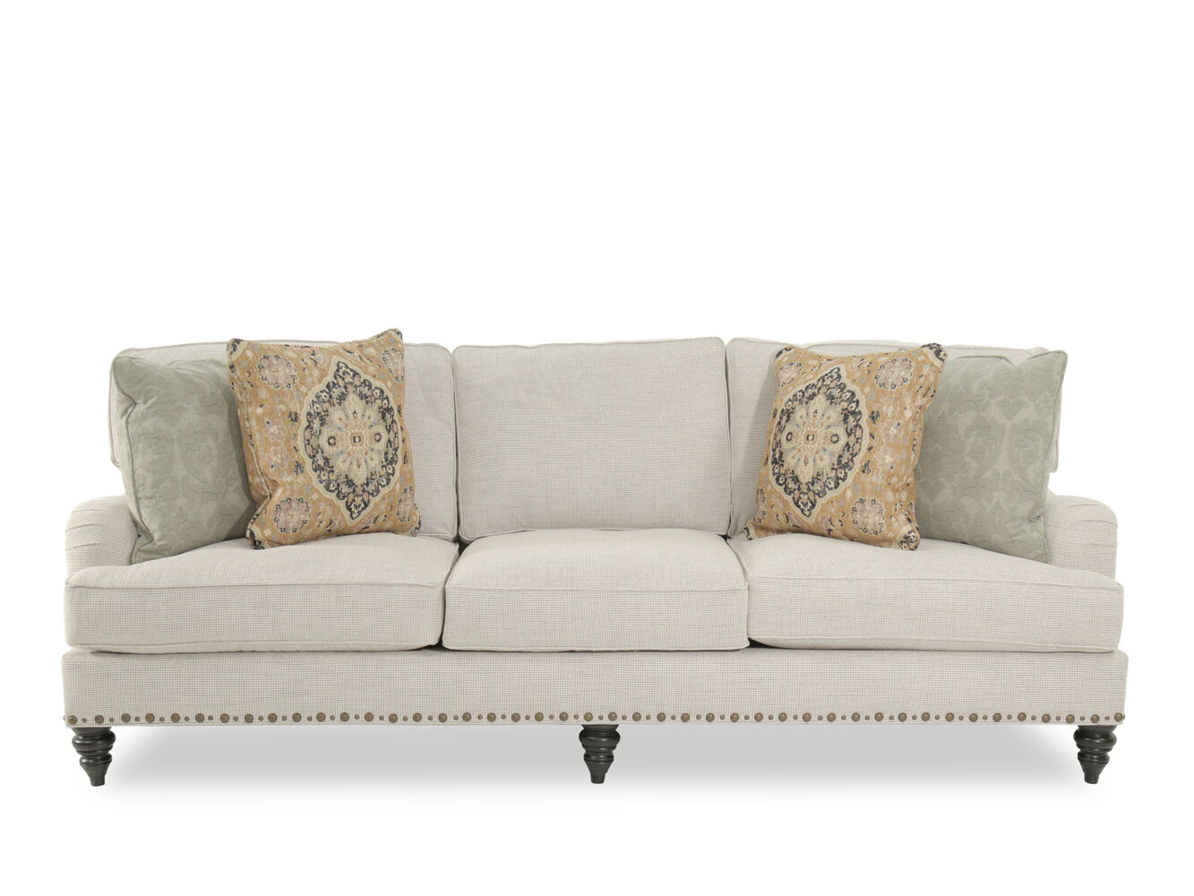 Broyhill esther fabric sofa mathis brothers furniture for Mathis brothers living room furniture