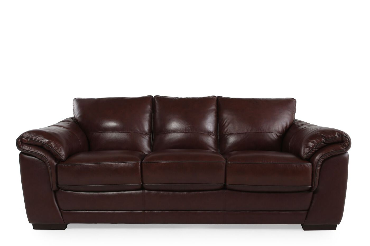 violino apollo leather sofa mathis brothers furniture With violino leather sectional sofa