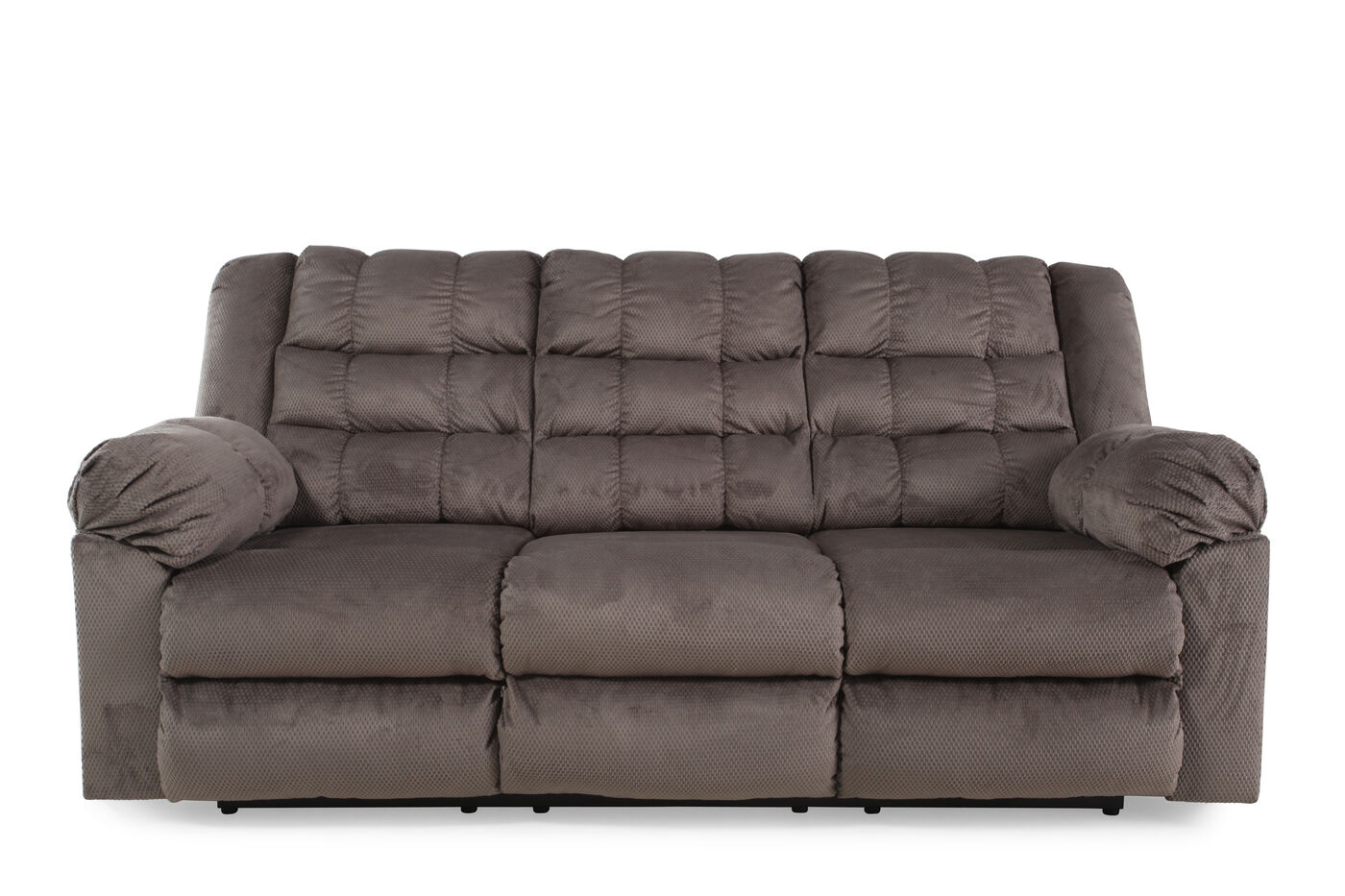 Ashley Mort Charcoal Reclining Sofa Mathis Brothers Furniture