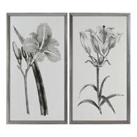Uttermost Sepia Flowers Sepia Tone Prints S/2