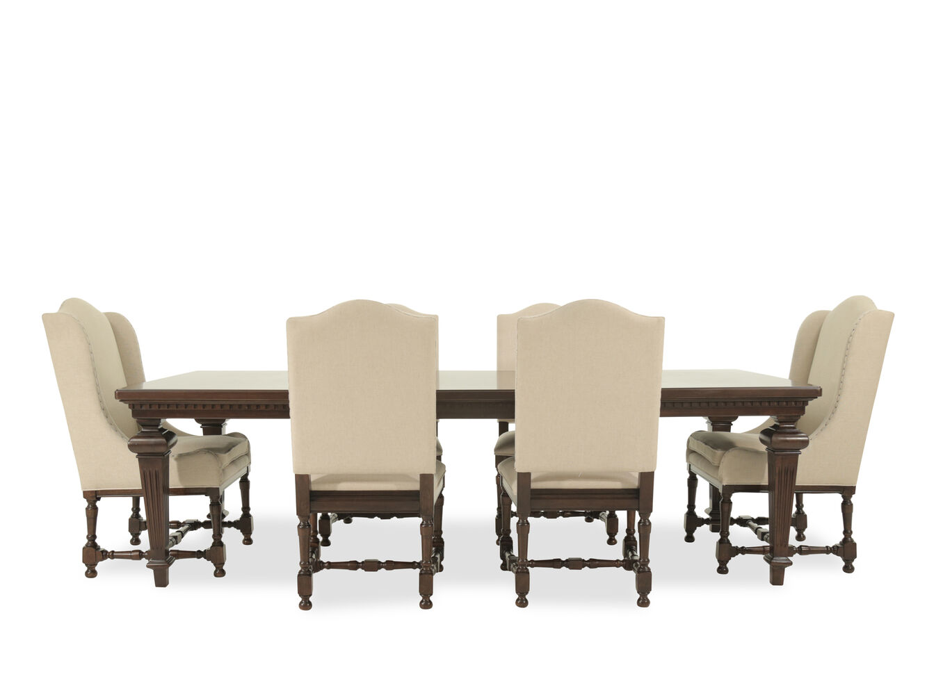 Universal proximity seven piece dining set mathis for 2 piece dining room set